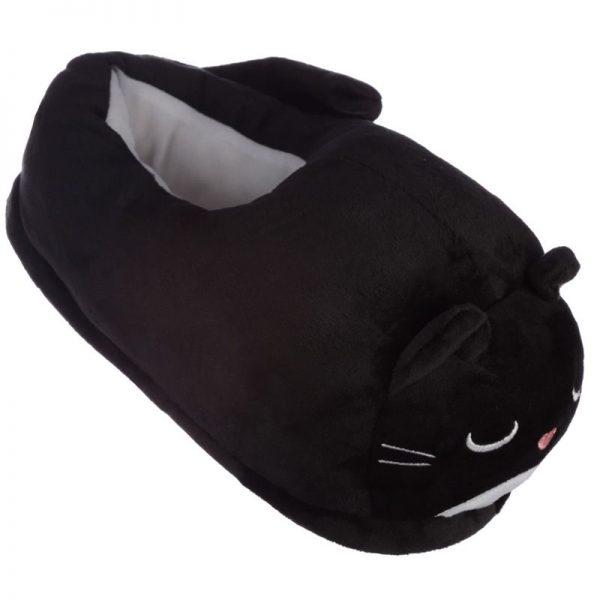 Černé kočičí pantofle Feline Fine - univerzální velikost 3 - pro milovníky koček