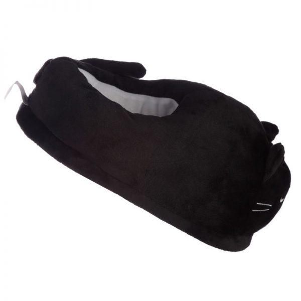 Černé kočičí pantofle Feline Fine - univerzální velikost 5 - pro milovníky koček