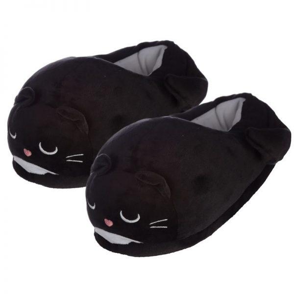 Černé kočičí pantofle Feline Fine - univerzální velikost