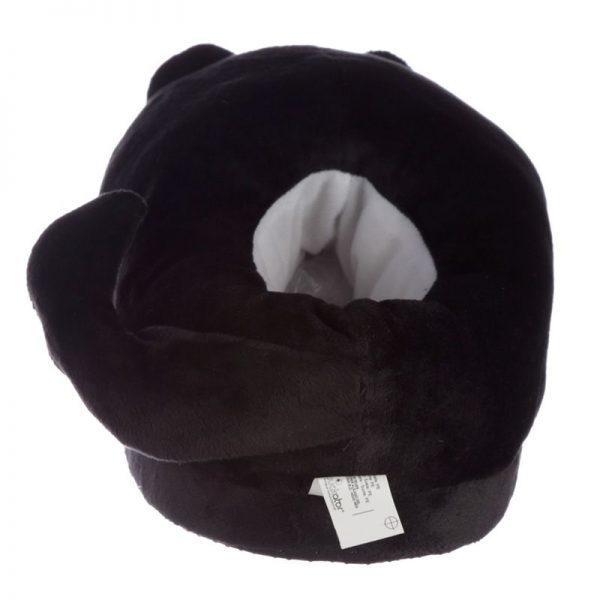 Černé kočičí pantofle Feline Fine - univerzální velikost 8 - pro milovníky koček