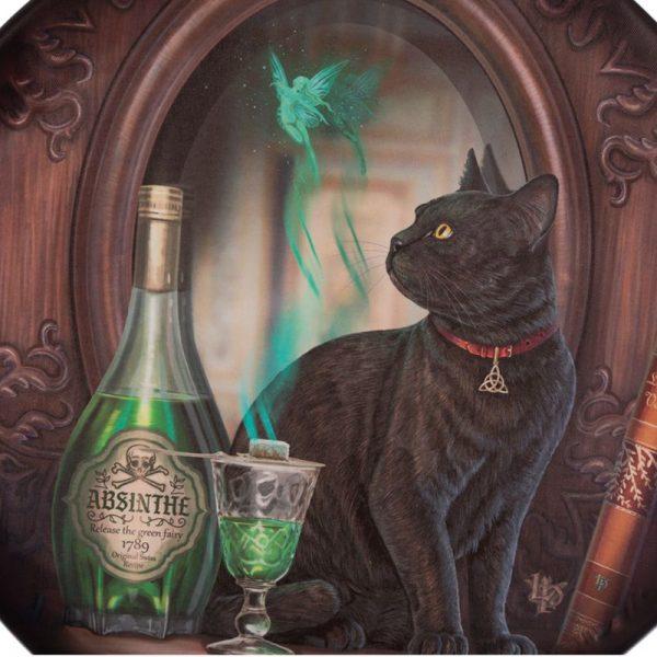 Velký lapač snů Lisa Parker Absinthe - 60 cm 2 - pro milovníky koček