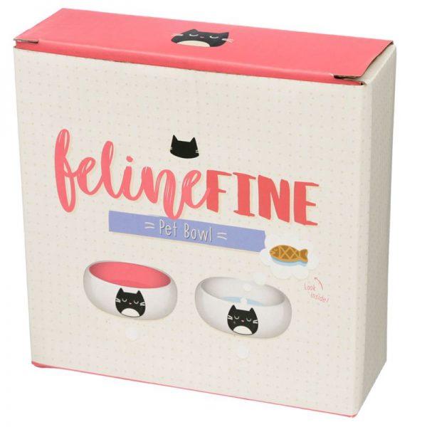 Keramická miska pro kočky na jídlo Feline Fine 3 - pro milovníky koček