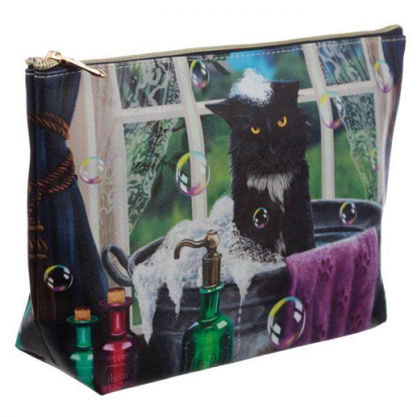Velká toaletní taštička z PVC kočičí koupel Lisa Parker 2 - pro milovníky koček