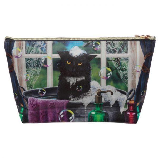 Velká toaletní taštička z PVC kočičí koupel Lisa Parker 3 - pro milovníky koček