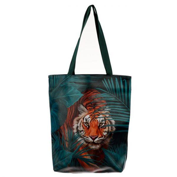 Nákupní taška s motivem velké kočičky s pruhy 1 - pro milovníky koček