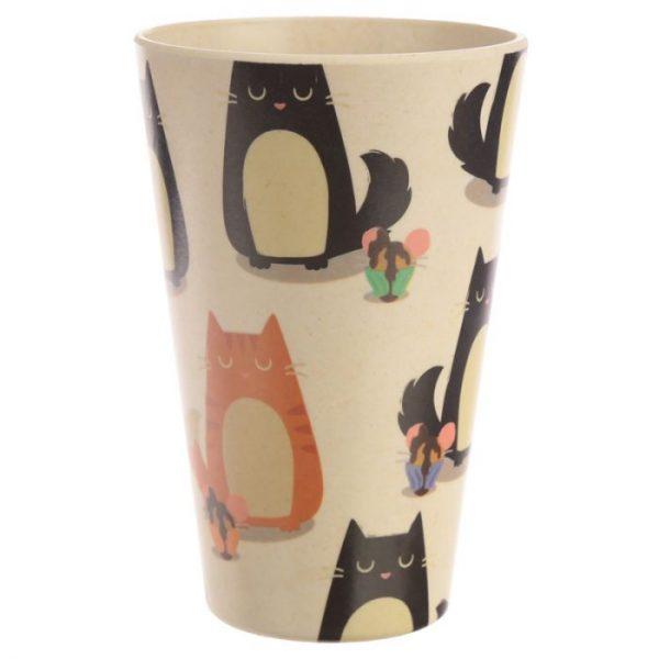 Bambusový Feline Fine znovupoužitelný termohrnek s kočkou 5 - pro milovníky koček