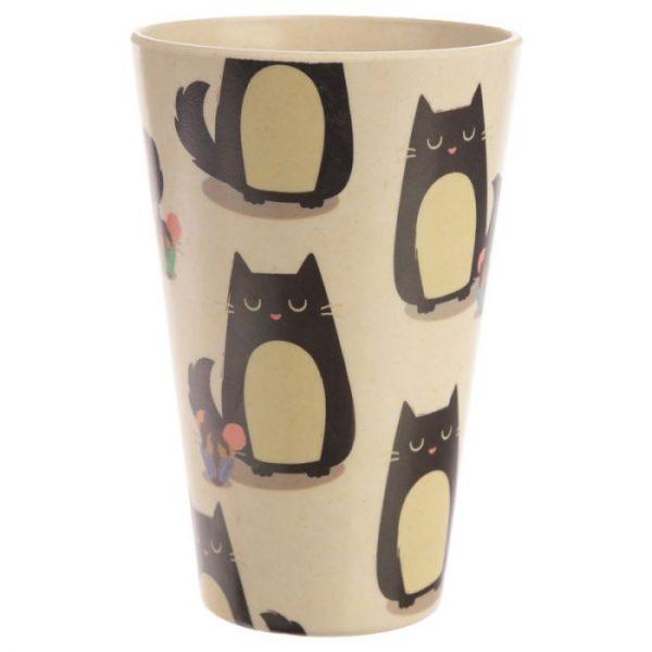Bambusový Feline Fine znovupoužitelný termohrnek s kočkou 6 - pro milovníky koček