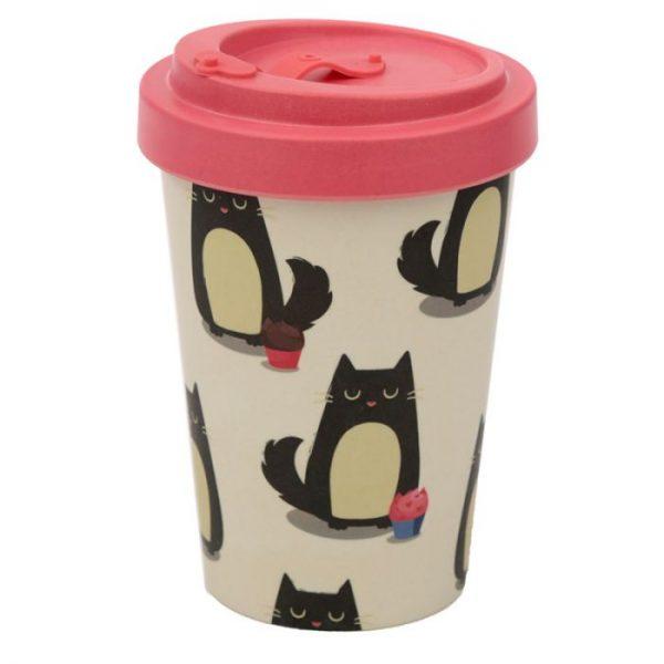 Kočka Feline Fine Cestovní termohrnek z bambusového kompozitu 1 - pro milovníky koček
