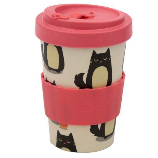 Kočka Feline Fine Cestovní termohrnek z bambusového kompozitu 5 - pro milovníky koček