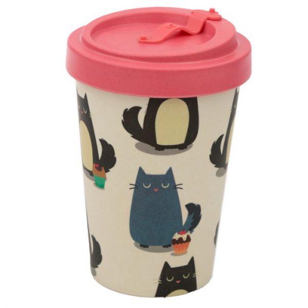 Kočka Feline Fine Cestovní termohrnek z bambusového kompozitu 7 - pro milovníky koček