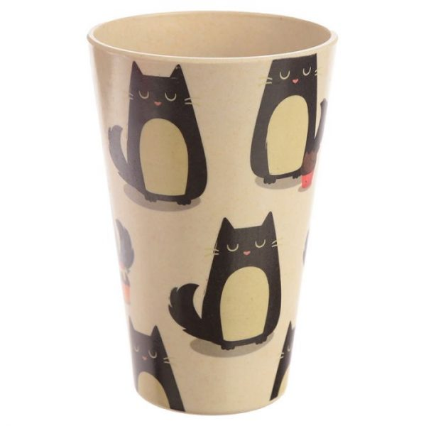Kočka Feline Fine Cestovní termohrnek z bambusového kompozitu 2 - pro milovníky koček