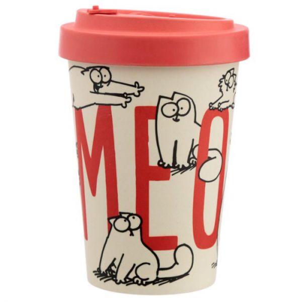 Simon's Cat Cestovní termohrnek z bambusového kompozitu 1 - pro milovníky koček