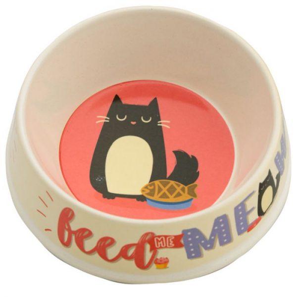 Bambusová Feed Meow Kočka Feline Fine Pet miska na vodu 1 - pro milovníky koček
