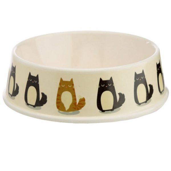 Bambusová Paws Off Kočka Feline Fine miska na jídlo pro kočky 3 - pro milovníky koček