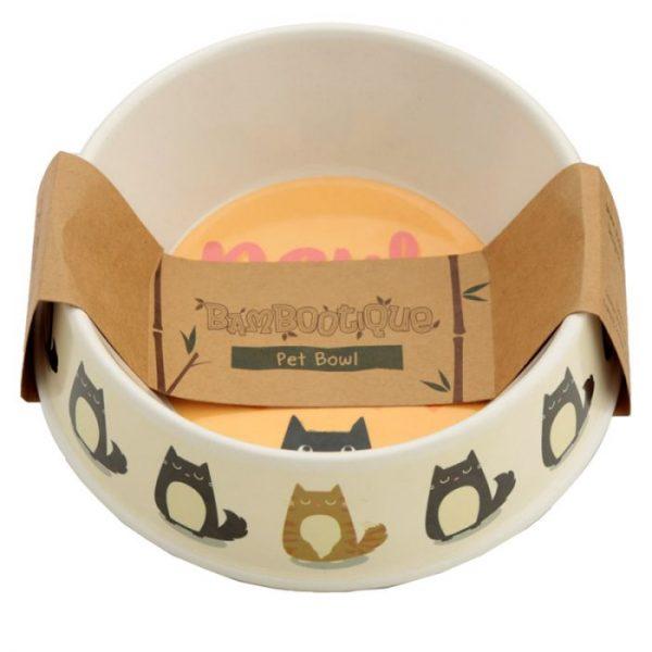 Bambusová Paws Off Kočka Feline Fine miska na jídlo pro kočky 2 - pro milovníky koček