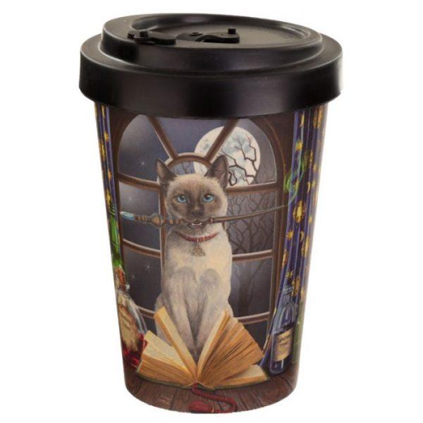 Lisa Parker kočka Hocus Pocus Cestovní termohrnek z bambusového kompozitu 1 - pro milovníky koček