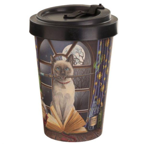 Lisa Parker kočka Hocus Pocus Cestovní termohrnek z bambusového kompozitu 3 - pro milovníky koček