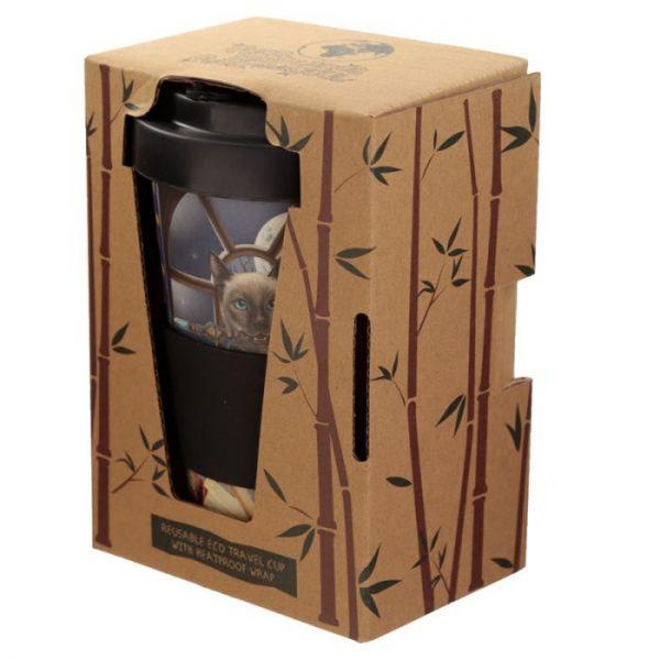 Lisa Parker kočka Hocus Pocus Cestovní termohrnek z bambusového kompozitu 5 - pro milovníky koček