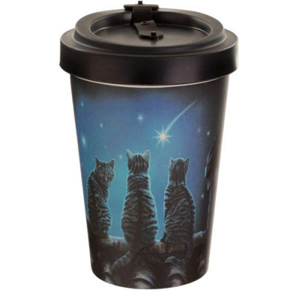 Lisa Parker Wish Upon a Star Cat Cestovní termohrnek z bambusového kompozitu 3 - pro milovníky koček