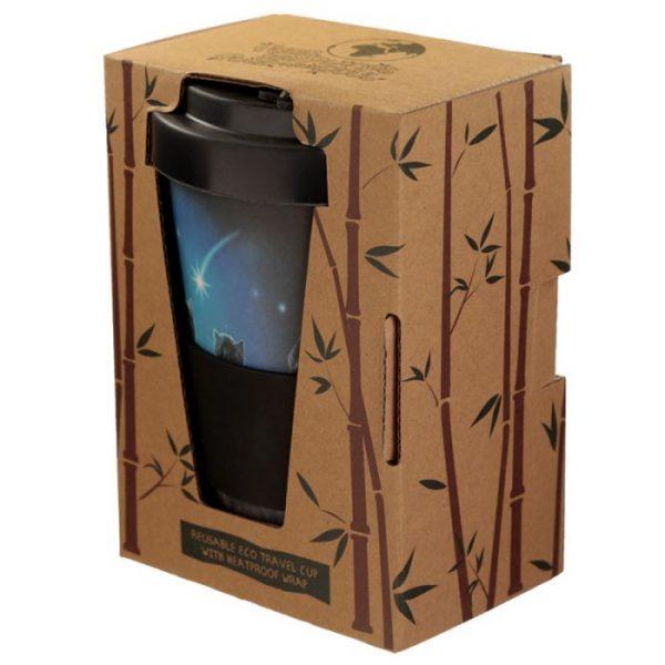 Lisa Parker Wish Upon a Star Cat Cestovní termohrnek z bambusového kompozitu 2 - pro milovníky koček