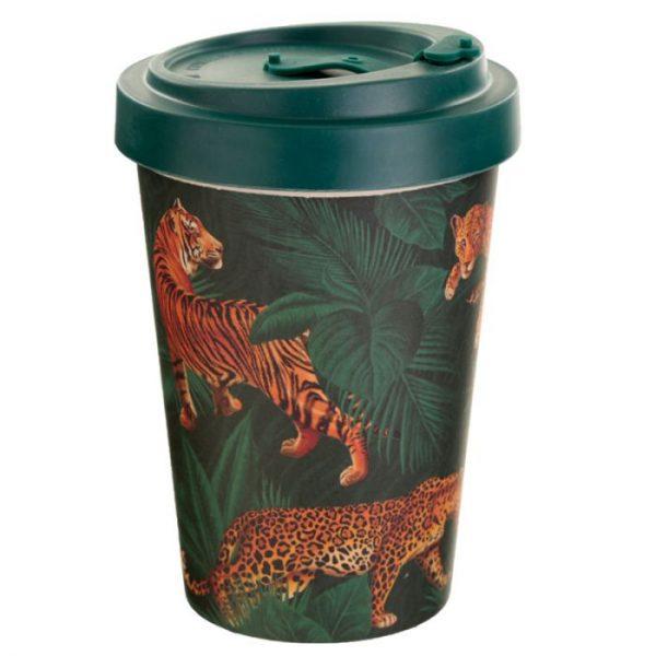 Spots & Stripes Velká Kočička Cestovní termohrnek z bambusového kompozitu 2 - pro milovníky koček
