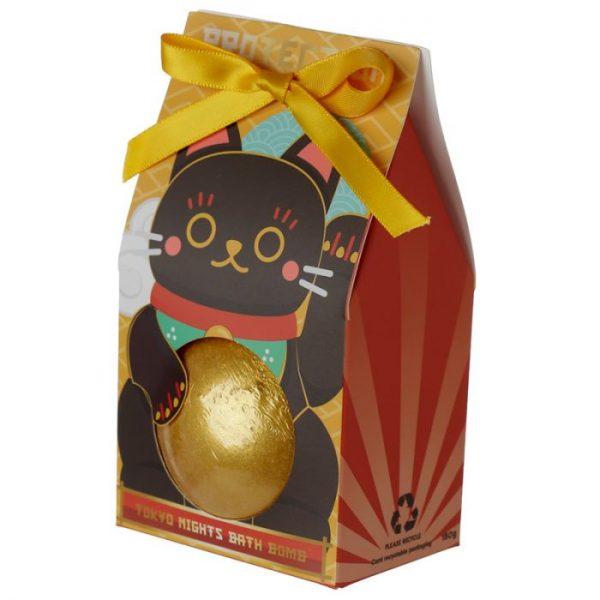 Maneki Neko - kočka štěstí bomba do vody v dárkovém balení 4 - pro milovníky koček