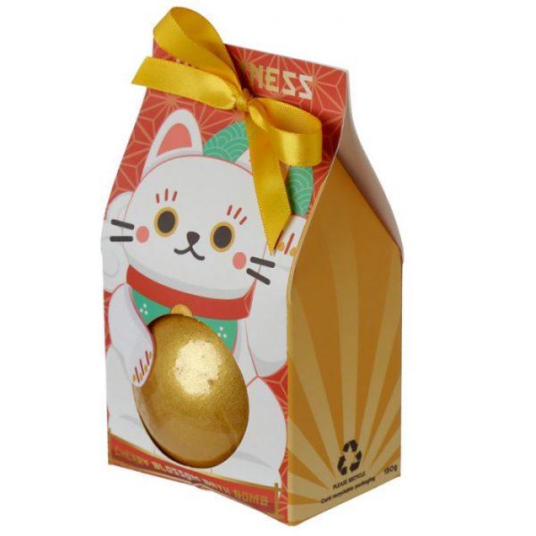 Maneki Neko - kočka štěstí bomba do vody v dárkovém balení 2 - pro milovníky koček