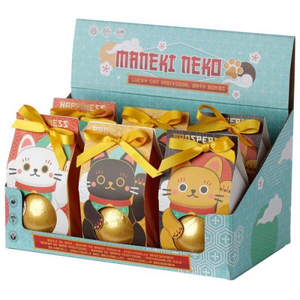 Maneki Neko - kočka štěstí bomba do vody v dárkovém balení 3 - pro milovníky koček