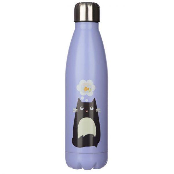 Kočka Feline Fine láhev z nerezové oceli na tepelnou izolaci nápojů 500ml 1 - pro milovníky koček