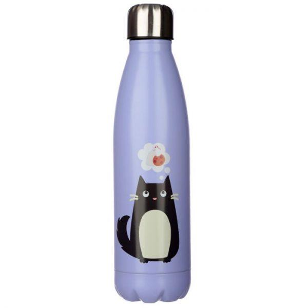 Kočka Feline Fine láhev z nerezové oceli na tepelnou izolaci nápojů 500ml 4 - pro milovníky koček
