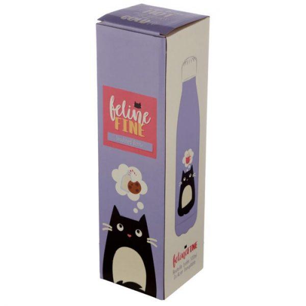 Kočka Feline Fine láhev z nerezové oceli na tepelnou izolaci nápojů 500ml 2 - pro milovníky koček