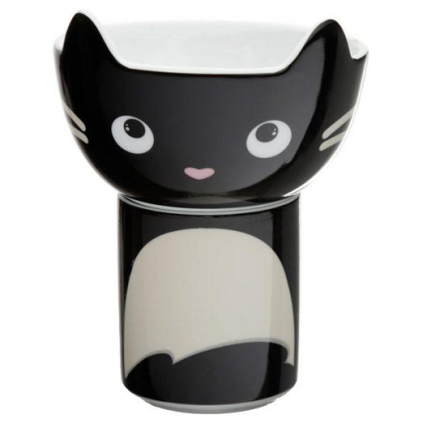 Feline Fine Porcelánový hrníček a miska - set pro děti 1 - pro milovníky koček