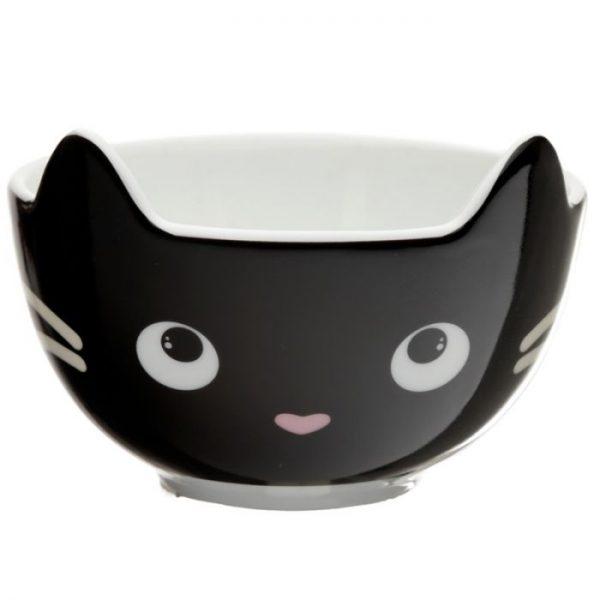 Feline Fine Porcelánový hrníček a miska - set pro děti 6 - pro milovníky koček