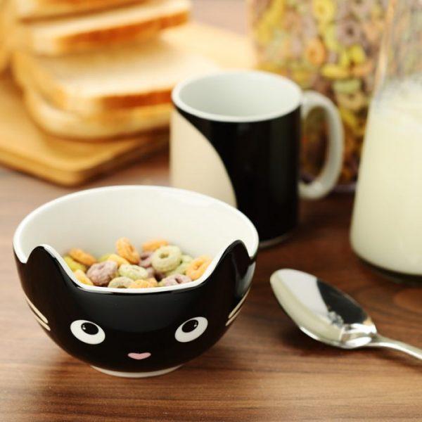 Feline Fine Porcelánový hrníček a miska - set pro děti 2 - pro milovníky koček