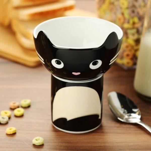 Feline Fine Porcelánový hrníček a miska - set pro děti 5 - pro milovníky koček