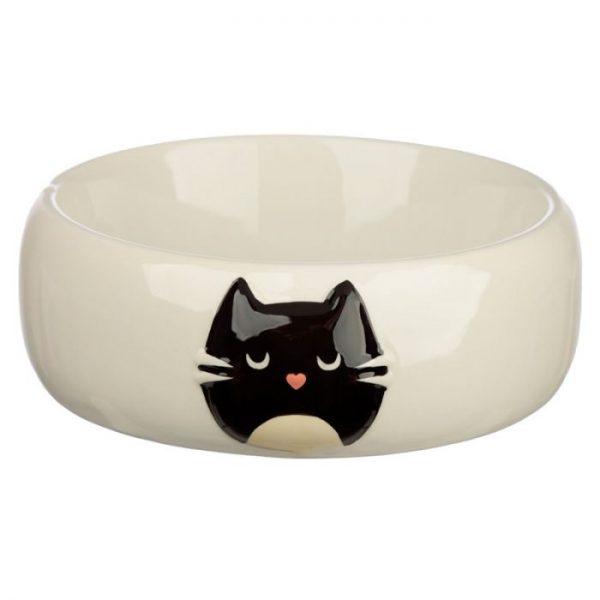 Kočka Feline Fine Ceramic miska na jídlo pro kočky 1 - pro milovníky koček