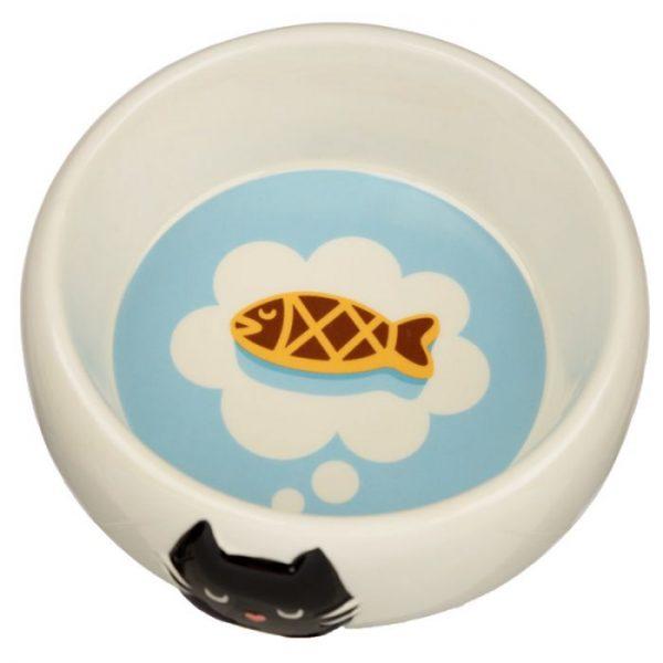 Kočka Feline Fine Ceramic miska na jídlo pro kočky 3 - pro milovníky koček