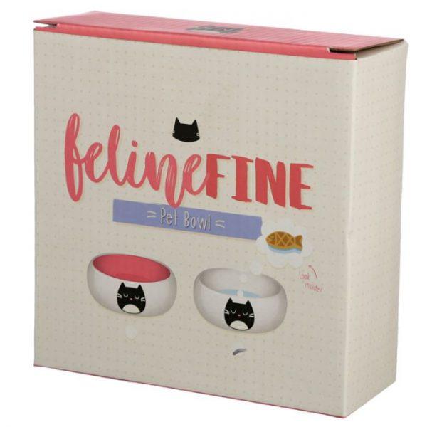 Kočka Feline Fine Ceramic miska na jídlo pro kočky 2 - pro milovníky koček