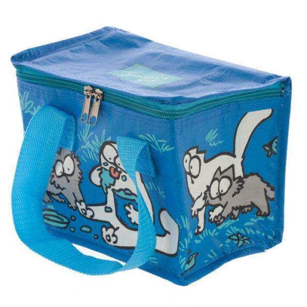 Chladící taška na svačinu s motivem kočičky a koťata Simon's Cat modrá 2 - pro milovníky koček