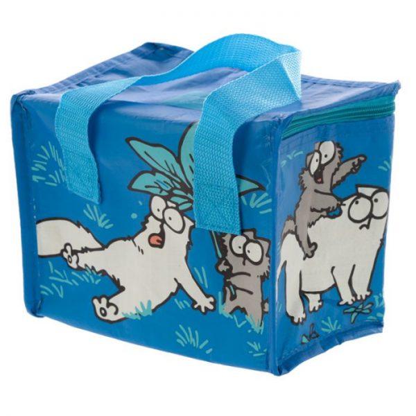 Chladící taška na svačinu s motivem kočičky a koťata Simon's Cat modrá 4 - pro milovníky koček
