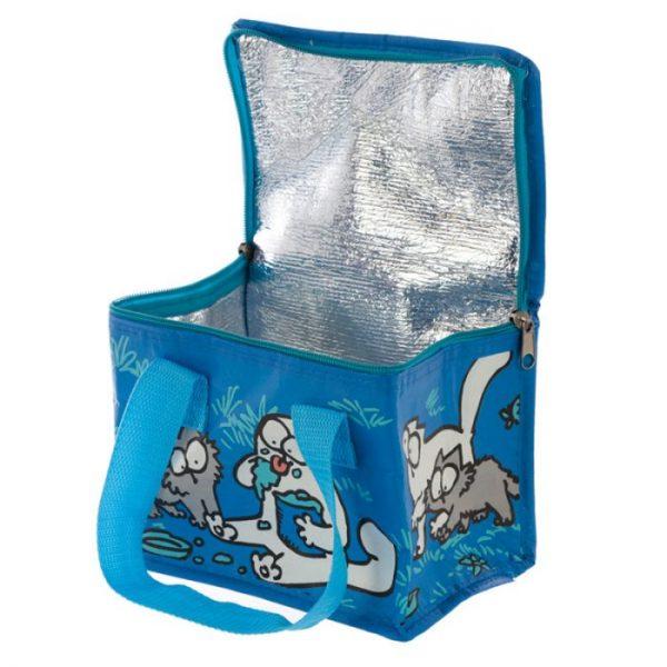 Chladící taška na svačinu s motivem kočičky a koťata Simon's Cat modrá 3 - pro milovníky koček