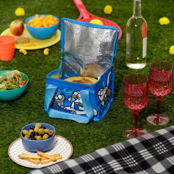 Chladící taška na svačinu s motivem kočičky a koťata Simon's Cat modrá 6 - pro milovníky koček