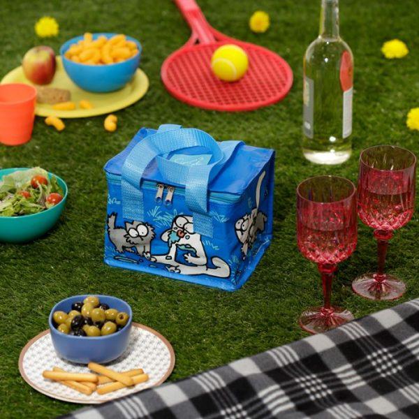 Chladící taška na svačinu s motivem kočičky a koťata Simon's Cat modrá 7 - pro milovníky koček