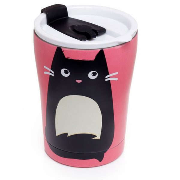 Kočka Feline Fine Reusable Stainless Steel Hot & Cold Thermal Insulated Food & Drink Cup 300ml 1 - pro milovníky koček