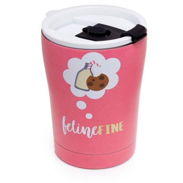 Kočka Feline Fine Reusable Stainless Steel Hot & Cold Thermal Insulated Food & Drink Cup 300ml 4 - pro milovníky koček