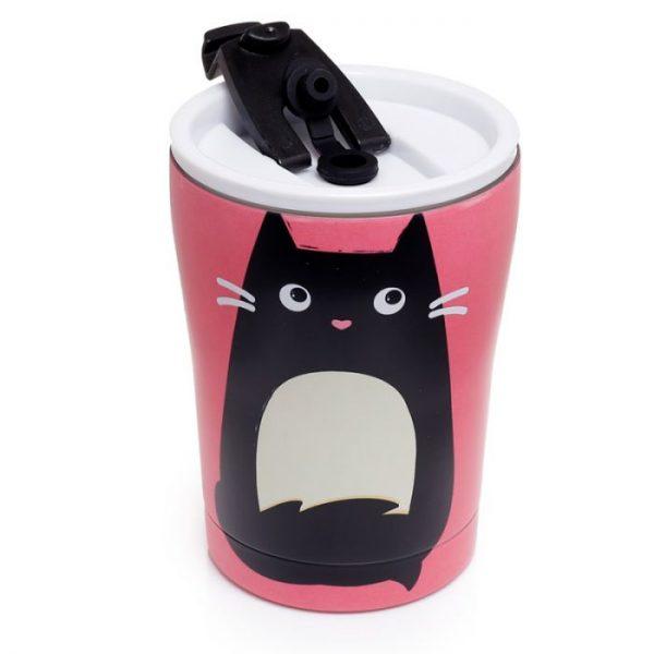 Kočka Feline Fine Reusable Stainless Steel Hot & Cold Thermal Insulated Food & Drink Cup 300ml 2 - pro milovníky koček
