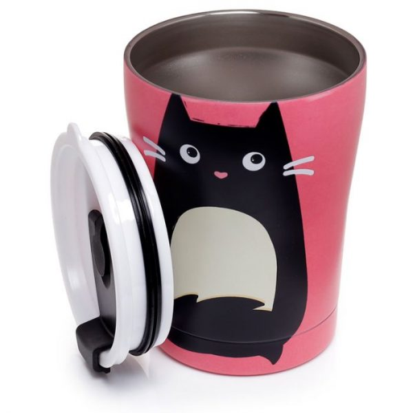 Kočka Feline Fine Reusable Stainless Steel Hot & Cold Thermal Insulated Food & Drink Cup 300ml 5 - pro milovníky koček