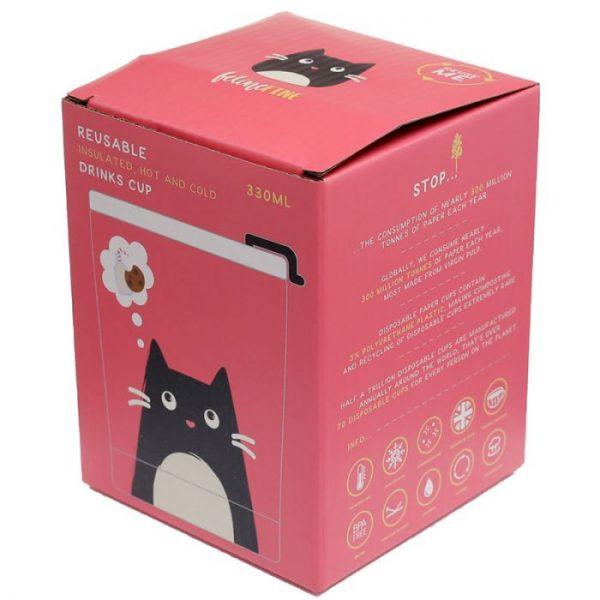 Kočka Feline Fine Reusable Stainless Steel Hot & Cold Thermal Insulated Food & Drink Cup 300ml 3 - pro milovníky koček
