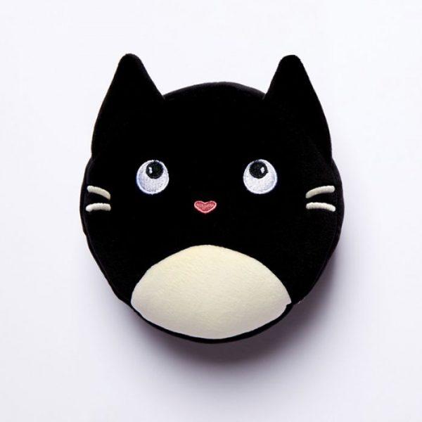Relaxeazzz Kočka Feline Fine Kulatý plyšový cestovní polštář a maska na oči 1 - pro milovníky koček
