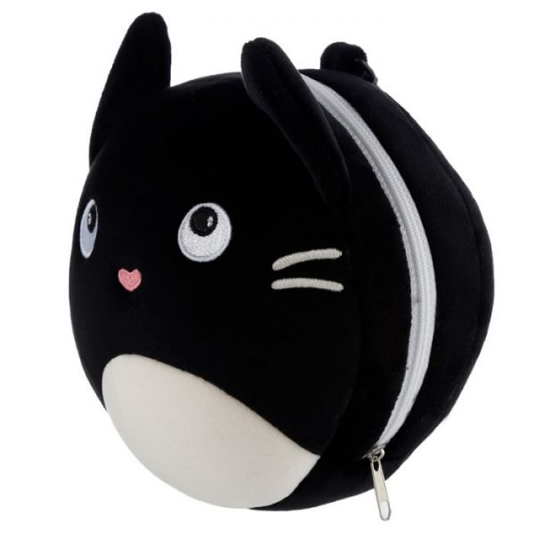 Relaxeazzz Kočka Feline Fine Kulatý plyšový cestovní polštář a maska na oči 5 - pro milovníky koček